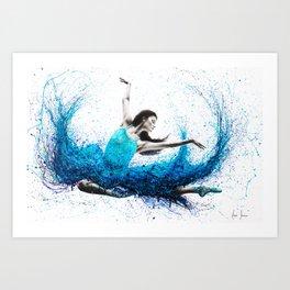 Luna Marina Ballet Art Print