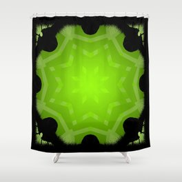 Angel Green Mandala Abstract Design Shower Curtain