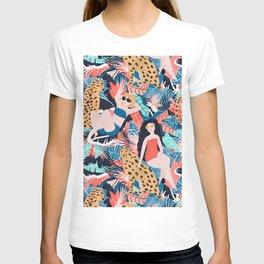 Tropical Girls with Cheetah T-shirt