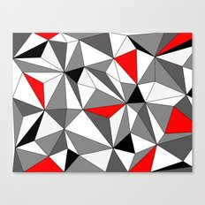Geo - red, gray, black and white Canvas Print