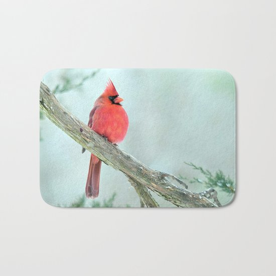 Elegant Cardinal Bath Mat