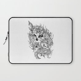Scorpio Skull Zodiac Sign For October and November Birth Day Gift Laptop Sleeve