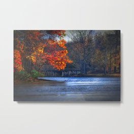 Bridge over Still Waters Metal Print