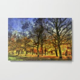 Greenwich Park London sunset Art Metal Print