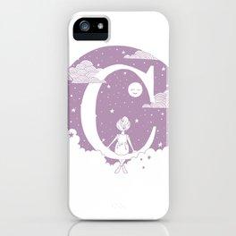 Lilac C iPhone Case