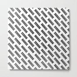 Badass Reverse | Pattern Art Metal Print