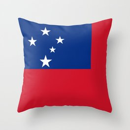 Samoan flag - Authentic version to scale and color Throw Pillow