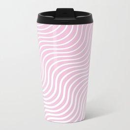 Whiskers Light Pink & White #308 Metal Travel Mug