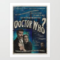 Alternate Reality Doctor Who Vintage Style Movie Poster Art Print