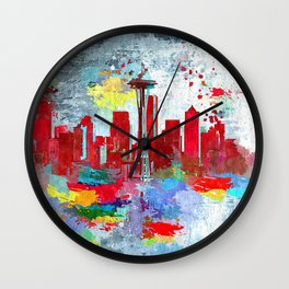 Seattle Grunge Wall Clock