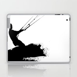 Wakeboarder Lets Go Fly A Kite Silhouette Laptop & iPad Skin