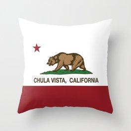 Chula Vista California Republic Flag Throw Pillow