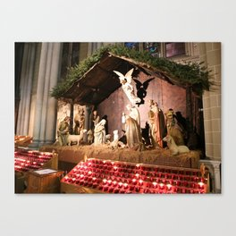 Nativity Scene in St. Patrick's Cathedral Canvas Print
