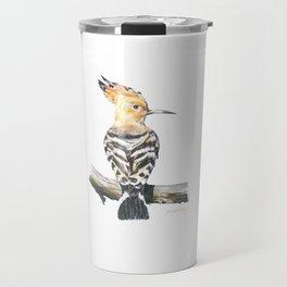 The Eurasian hoopoe (Upupa epops) Travel Mug