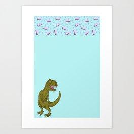 T-rex @ Cindy's Art Print
