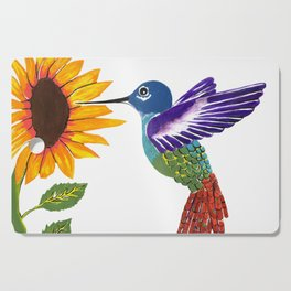 The Sunflower And The Hummingbird Cutting Board