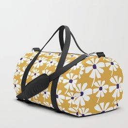 Summer Daisies on Golden Yellow Ochre Duffle Bag