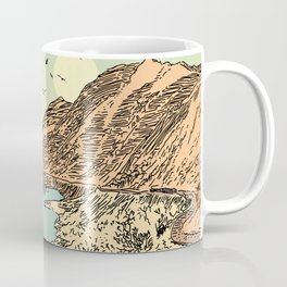 Mountain, Train & Lake Coffee Mug
