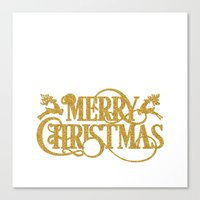 merry christmas Canvas Prints featuring Merry Christmas by Better HOME