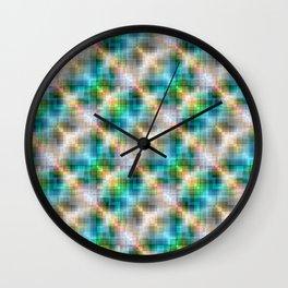 Multi-colored  pattern .3 Wall Clock
