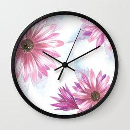 Watercolor Gerbera Wall Clock