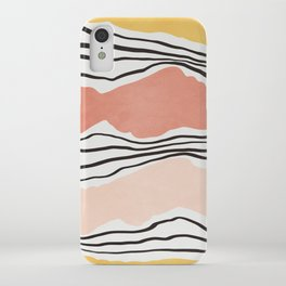 Modern irregular Stripes 01 iPhone Case