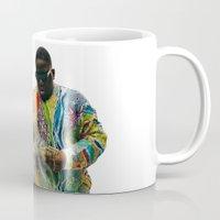 biggie smalls Mugs featuring Biggie Smalls by IFEELFREEDXM