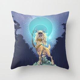 Golden Hind Throw Pillow
