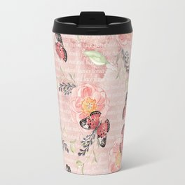 Flowers & butterflies #1 Travel Mug