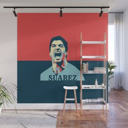 Luis Suarez, number one Uruguayan player. Wall Mural