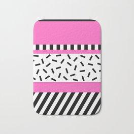 Memphis Geometric Pink Bath Mat