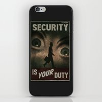 fallout iPhone & iPod Skins featuring Fallout Security  by Chimaera Designs
