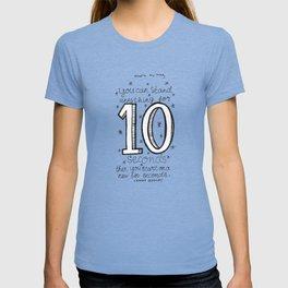 10 seconds T-shirt