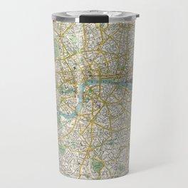 Vintage Map of London England (1900) Travel Mug