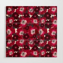 Flowers Overflowing Wood Wall Art