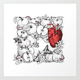 coronary apples Art Print