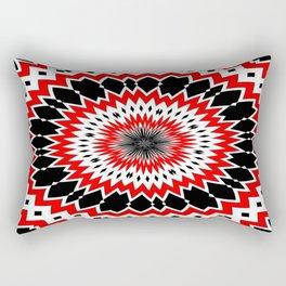 Bizarre Red Black and White Pattern Rectangular Pillow