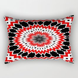 Bizarre Red Black and White Pattern Rectangular Pillow