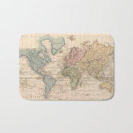 Vintage Map of The World (1823) V.2 Bath Mat