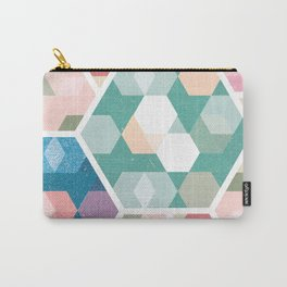 Pastel Hexagon Pattern Carry-All Pouch