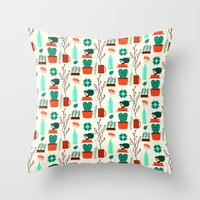 zen Throw Pillows featuring Zen by Ana Types Type
