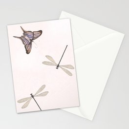 Butterflies and damselflies Stationery Cards