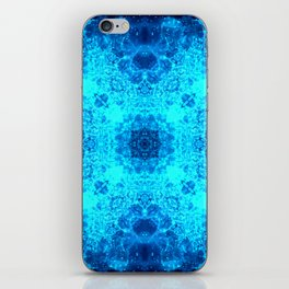 Abstract Blue Lacy Waves SB77 iPhone Skin