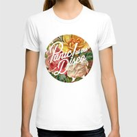 panic at the disco T-shirts featuring Panic! at the disco round vintage flowers by Van de nacht