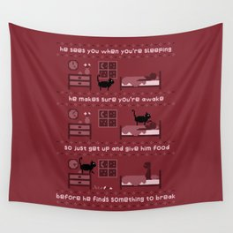 Santa Paws Wall Tapestry