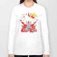 dbz Long Sleeve T-shirts featuring Goku Skull DBZ by offbeatzombie