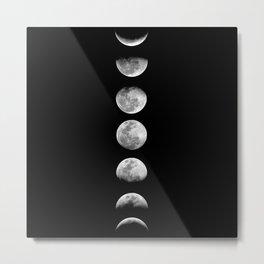 Simple Moon Phases 2 Metal Print