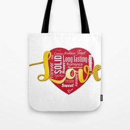 Words of love Tote Bag