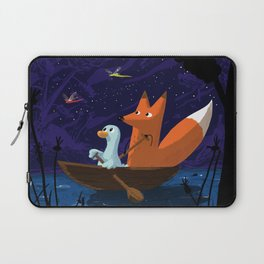 Fox & Duck Looking For Dragonflies Laptop Sleeve