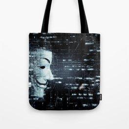 hacker background Tote Bag